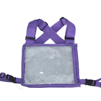 Ecotak Cross Country/Endurance Back Number Holder - Purple