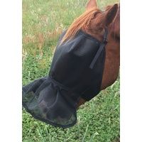 Ecotak Fly Mask/Veil with NOSE SKIRT Black