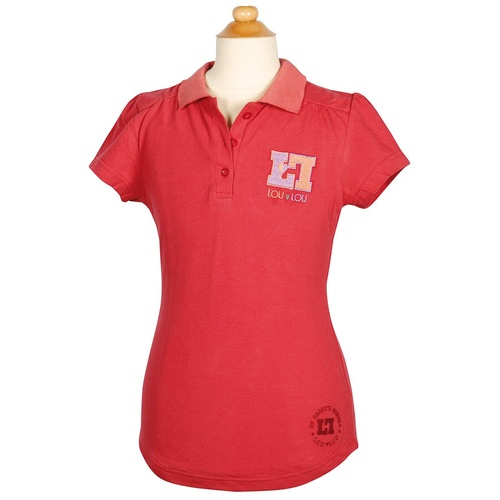 Harry's Horse Loulou Holly Berry Polo Shirt- Children's size 14