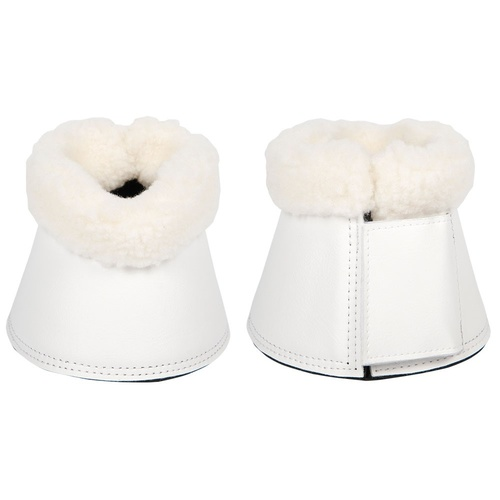 Harry's Horse Flextrainer Over Reach Bell Boots - White [size: Medium]