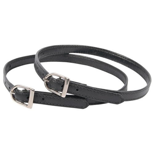 Harry's Horse Soft Stitched Black spur Straps
