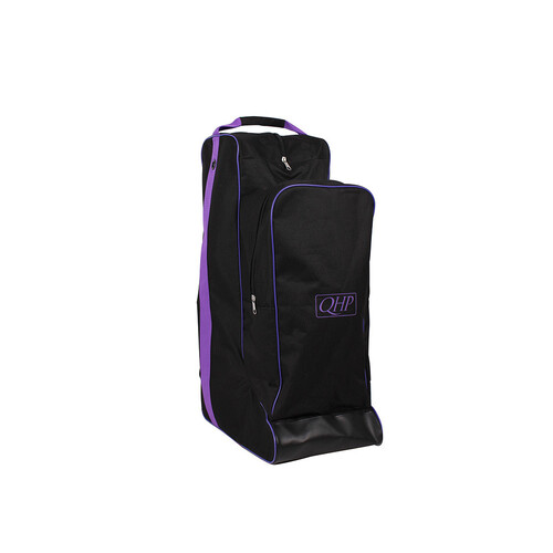 QHP combination boot & helmet bag - black/purple