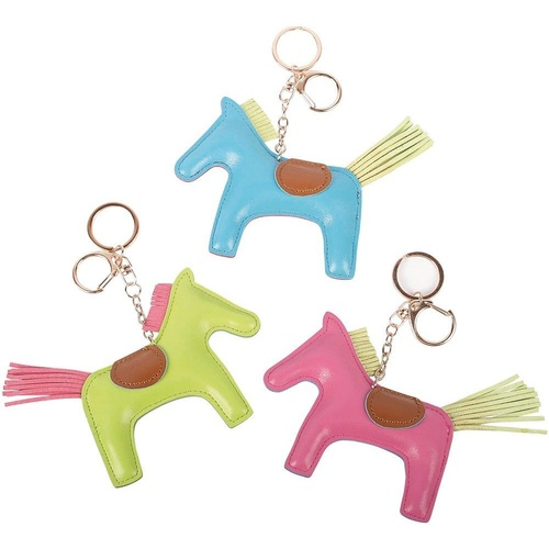 Harry's Horse Leather Horse Key Ring - Green