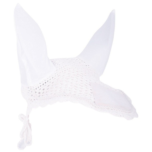 Harry's Horse Crochet Bonnet Ear Net - White Cob Size