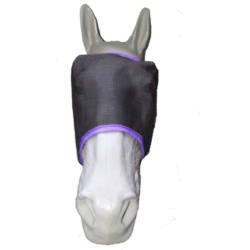Ecotak Black Fly Mask/Veil with Purple Trim